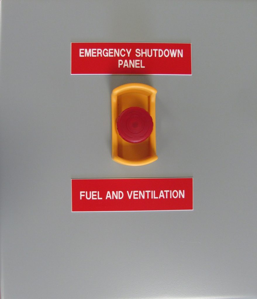 10 Point Emergency Shut-Down Panel