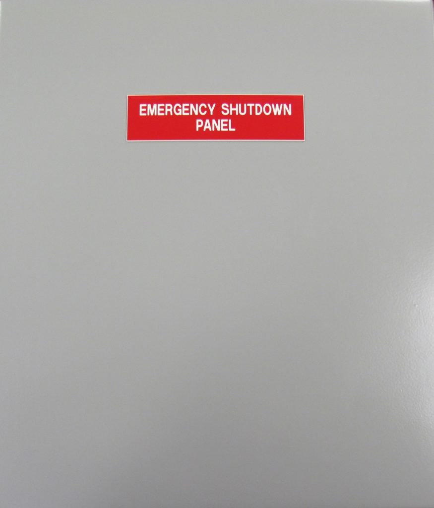 15 POINT EMERGENCY SHUT-DOWN PANEL