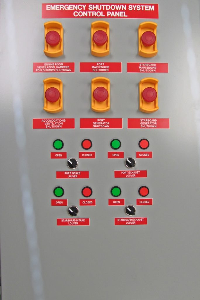 45 Point Emergency Shut-Down Panel