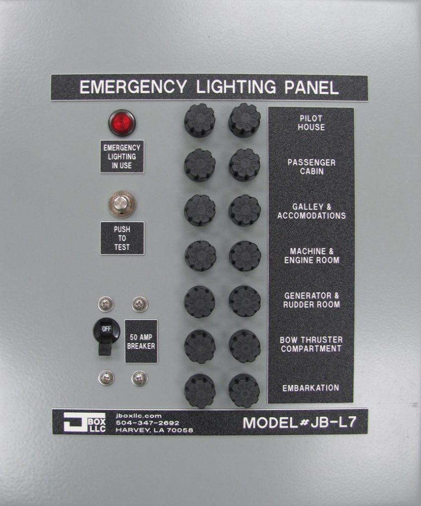 Emergency Lighting Panel - 02 JBL-7 front