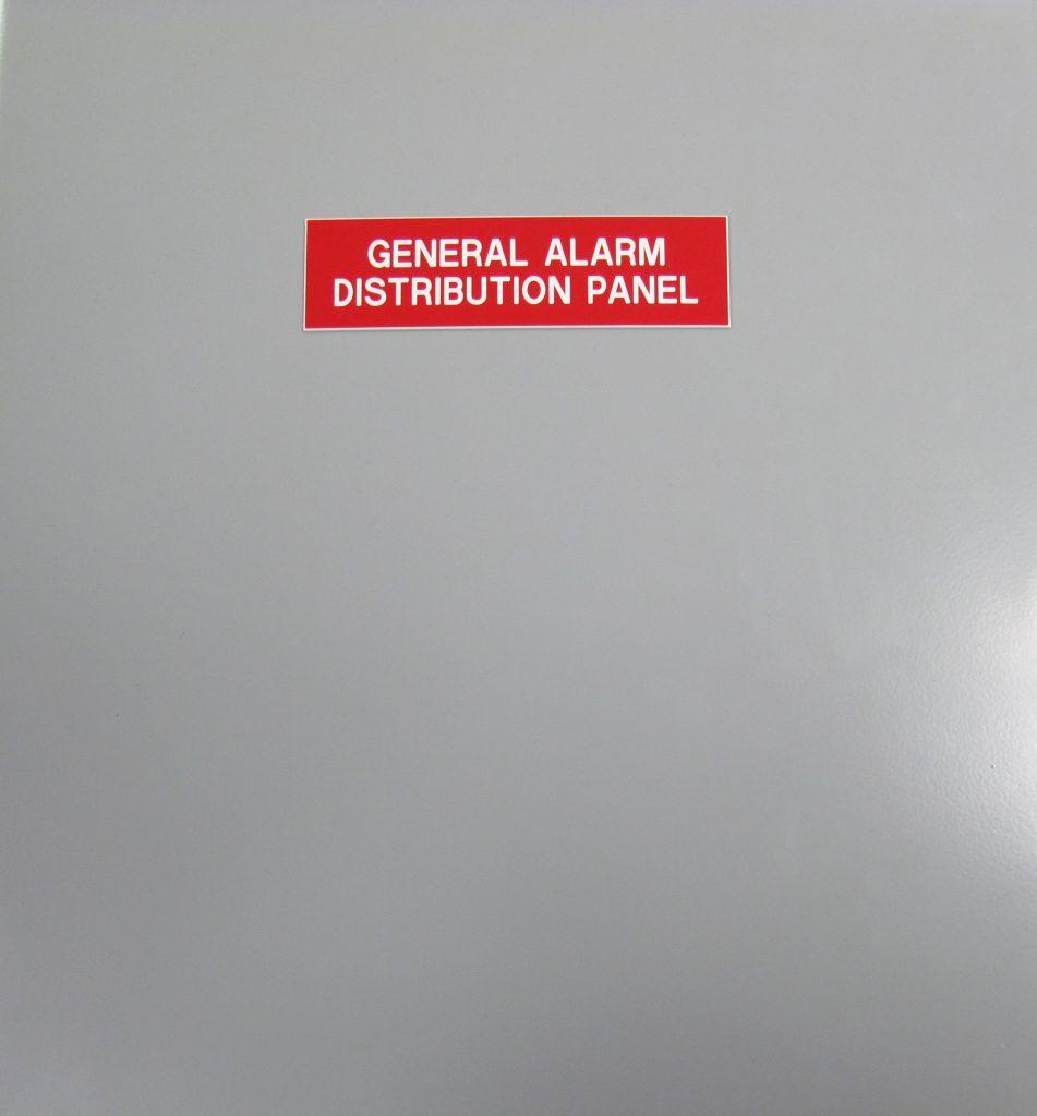 General Alarm Distribution Panel Offshore Vessel Front